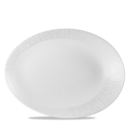 """Churchill Bamboo White Oval Plate 13.75x10.5"""""""