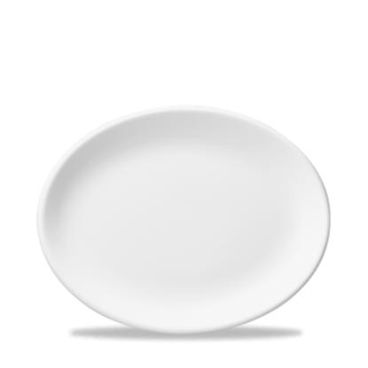 "Churchill Classic Oval Plate White 12"""