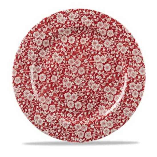 Churchill Cranberry Victorian Calico Plate 12″