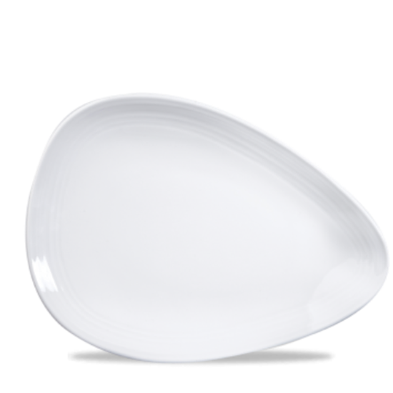 "Churchill Discover Organic White Oval Plate 9 7/8"" (25.70cm)"