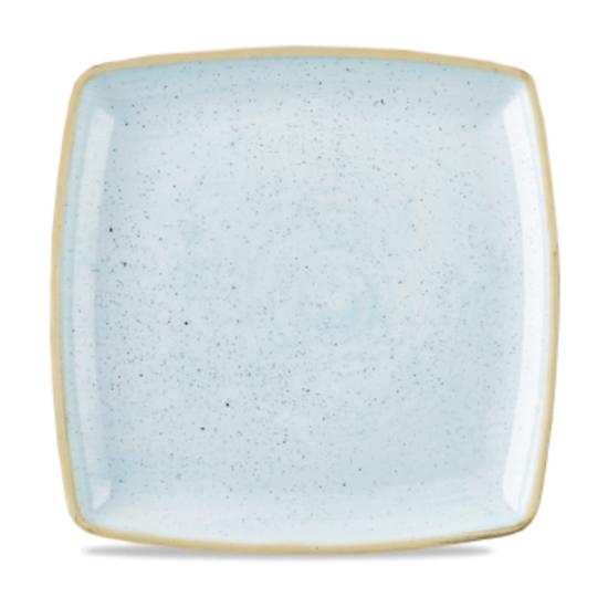 "Churchill Stonecast Duck Egg Deep Square Plate 26.8cm (10.5"")"
