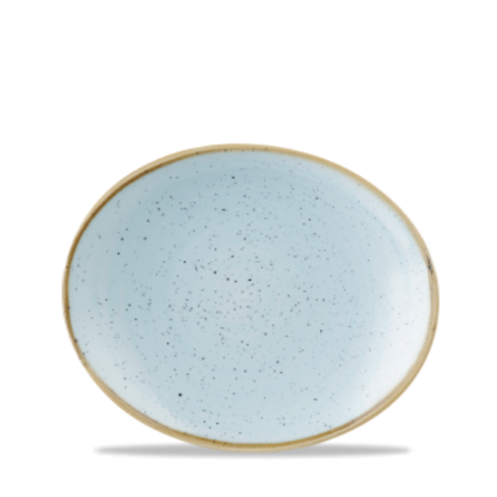 "Churchill Stonecast Duck Egg Oval Plate 7.75"" (19.7cm)"