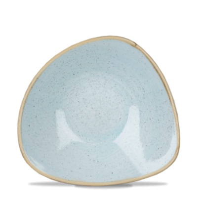 "Churchill Stonecast Duck Egg Triangle Bowl 7.25"" (13oz)"