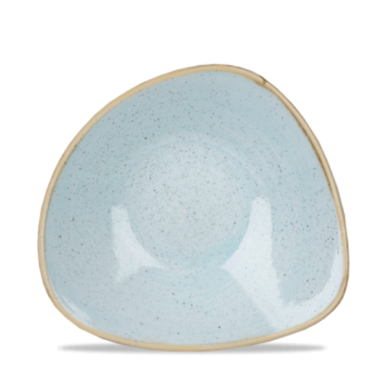 "Churchill Stonecast Duck Egg Triangle Bowl 9.25"" (21oz)"