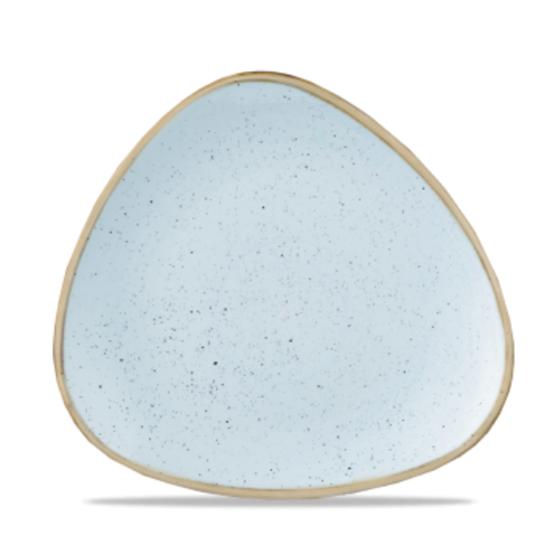 "Churchill Stonecast Duck Egg Triangle Plate 7 3/4"" (19.2cm)"