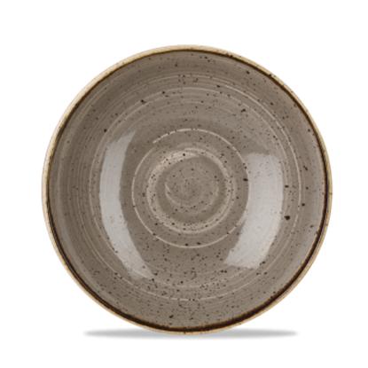 "Churchill Stonecast Peppercorn Grey Coupe Bowl 9.75""(40oz)"