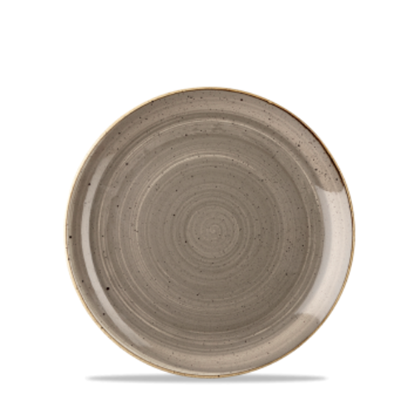 "Churchill Stonecast Peppercorn Grey Coupe Plate 6.5"" (16.5cm)"