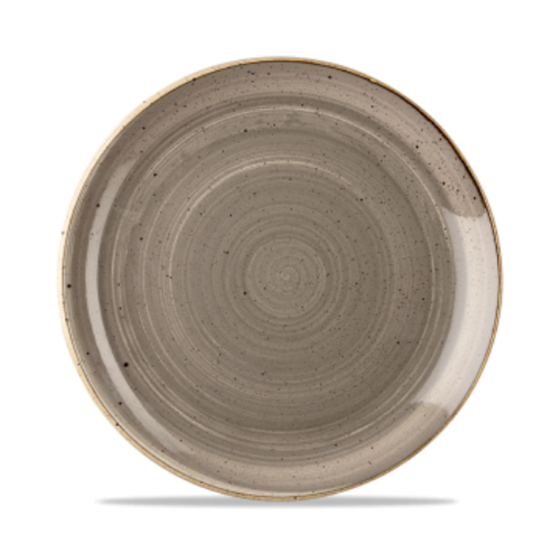 "Churchill Stonecast Peppercorn Grey Coupe Plate 8.33"" (21.7cm)"
