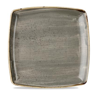 "Churchill Stonecast Peppercorn Grey Deep Square Plate 10.5"" (26.8cm)"