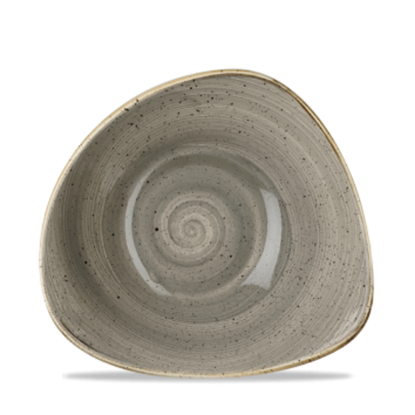 Churchill Stonecast Peppercorn Grey Triangle Bowl