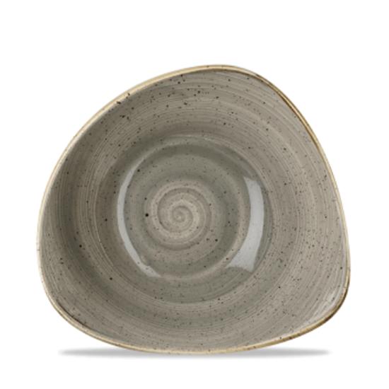 Churchill Stonecast Peppercorn Grey Triangle Bowl 13oz