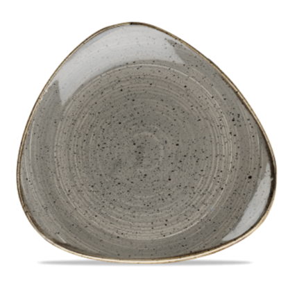 "Churchill Stonecast Peppercorn Grey Triangle Plate 10.5"" (26.5cm)"