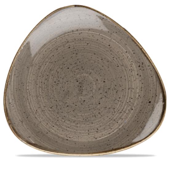 "Churchill Stonecast Peppercorn Grey Triangle Plate 12.25"" (31.1cm)"