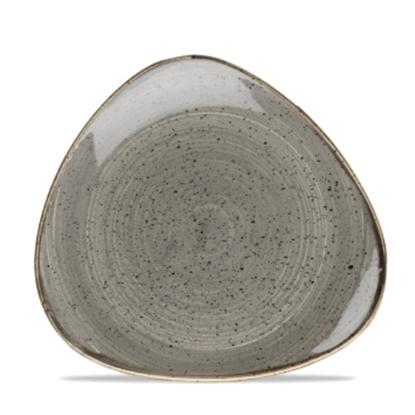 "Churchill Stonecast Peppercorn Grey Triangle Plate 7.75"" (19.2cm)"