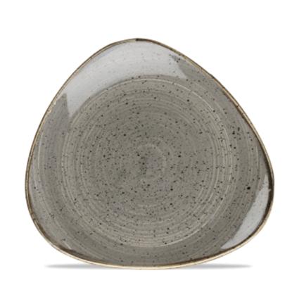 "Churchill Stonecast Peppercorn Grey Triangle Plate 9"" 22.9cm"
