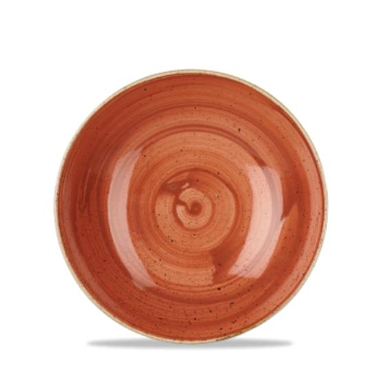 "Churchill Stonecast Spiced Orange Coupe Bowl 7.25"" (15oz)"