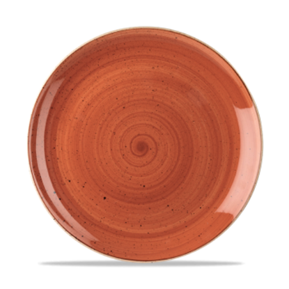 "Churchill Stonecast Spiced Orange Coupe Plate 11.25"" (28.8cm)"