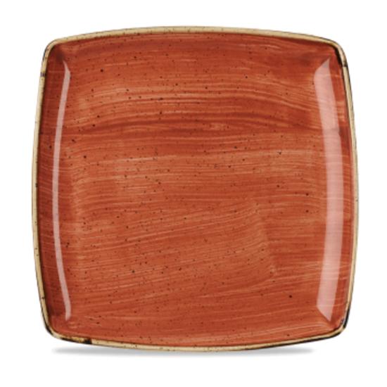 "Churchill Stonecast Spiced Orange Deep Square Plate 10.5"" (26.8cm)"