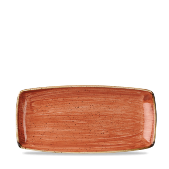 "Churchill Stonecast Spiced Orange Oblong Plate 11.75"" X 6"""