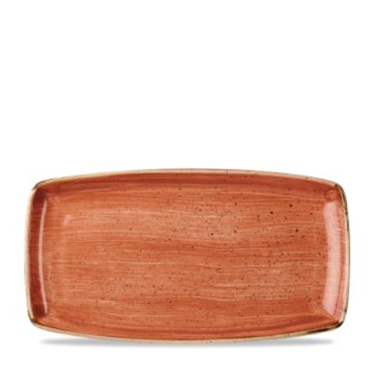 "Churchill Stonecast Spiced Orange Oblong Plate 14"" X 7.25"""