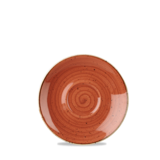 "Churchill Stonecast Spiced Orange Saucer 6.25"" (15.6m)"