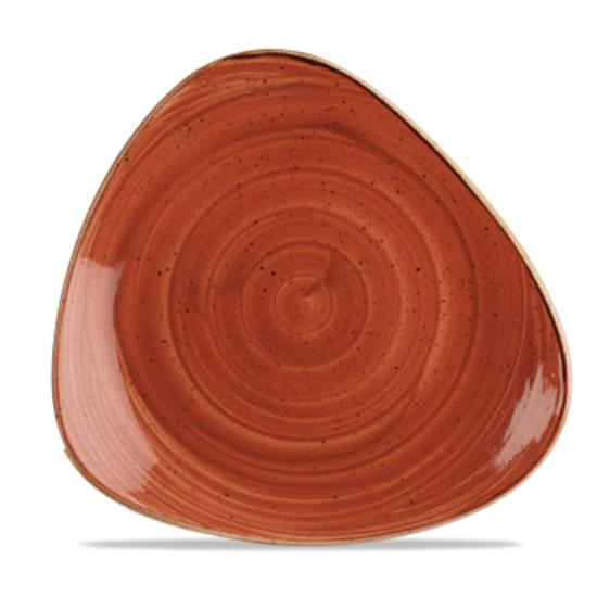 "Churchill Stonecast Spiced Orange Triangle Plate 10.5"" (26.5cm)"
