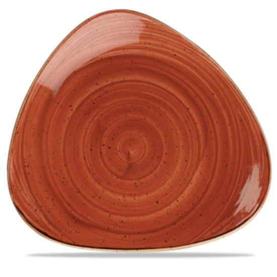 "Churchill Stonecast Spiced Orange Triangle Plate 12.25"" (31.1cm"