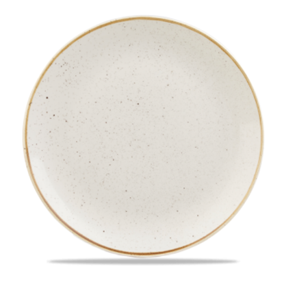 "Churchill Stonecast White Coupe Plate 8 2/3"" (21.7cm)"