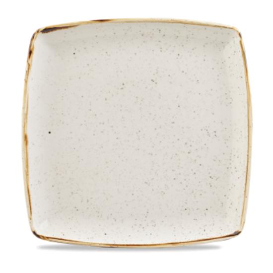 "Churchill Stonecast White Deep Square Plate 10.5"" (26.8cm)"