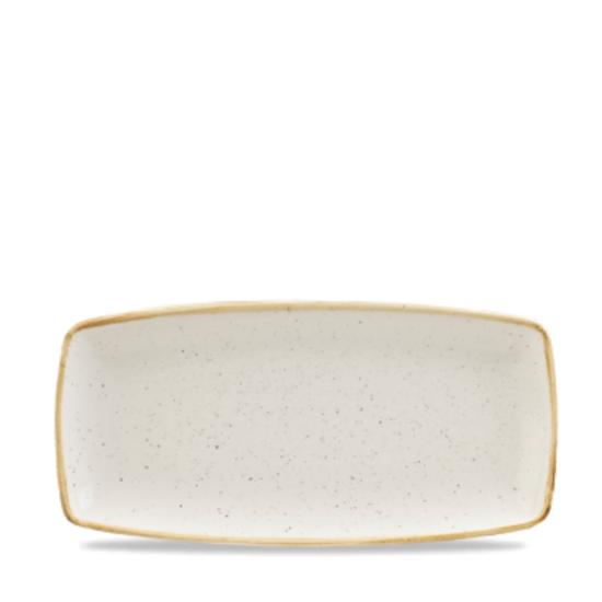 "Churchill Stonecast White Oblong Plate 11.75"" X 6"""