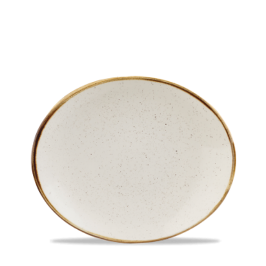 "Churchill Stonecast White Oval Plate 7.75"" (19.7cm)"