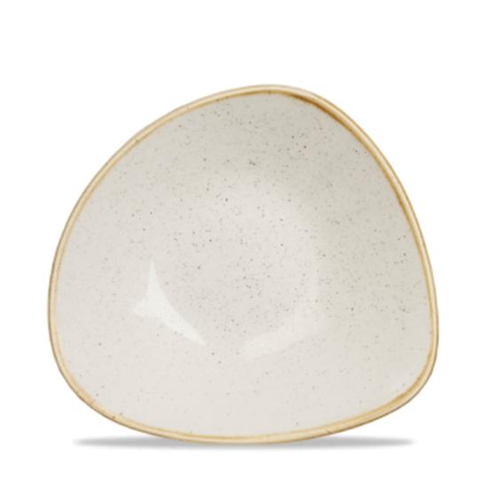 "Churchill Stonecast White Triangle Bowl 9.25"" (21oz)"