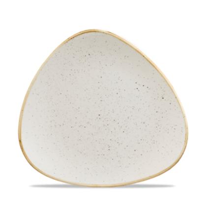 """Churchill Stonecast White Triangle Plate 7 3/4"""" (9.2cm)"""