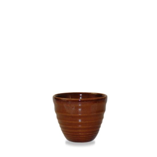 Churchill Super Vitrified Ripple Cinnamon Dip Pot 4oz (11.5cl)