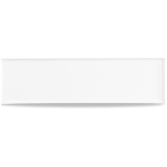 Rectangle Melamine White Buffet Tray 56x15.3cm