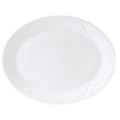 "Steelite Bianco Oval Plate 13"" (33cm)"