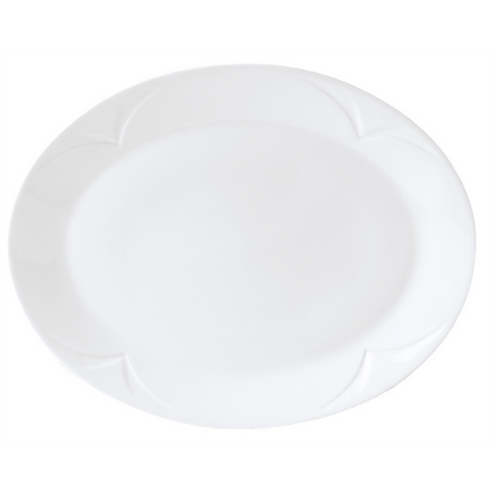 "Steelite Bianco Oval Plate 8"" (20.25cm)"