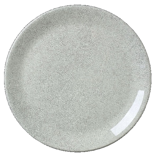 "Steelite Ink Crackle Coupe Plate Grey 11.75"" (30cm)"