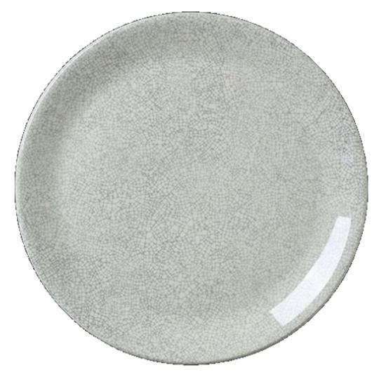 "Steelite Ink Crackle Coupe Plate Grey 8"" (20.25cm)"