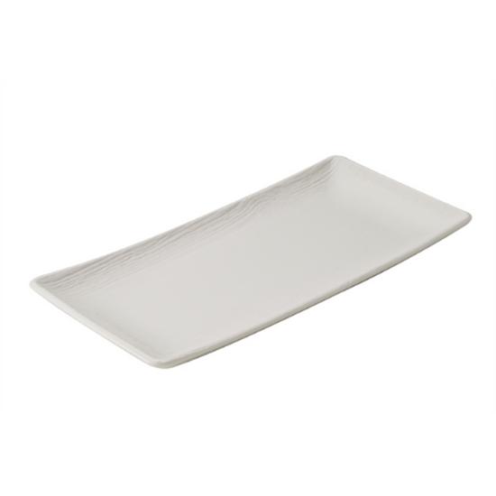 "Ivory Arborescence Rectangular Plate 12"" (30cm)"