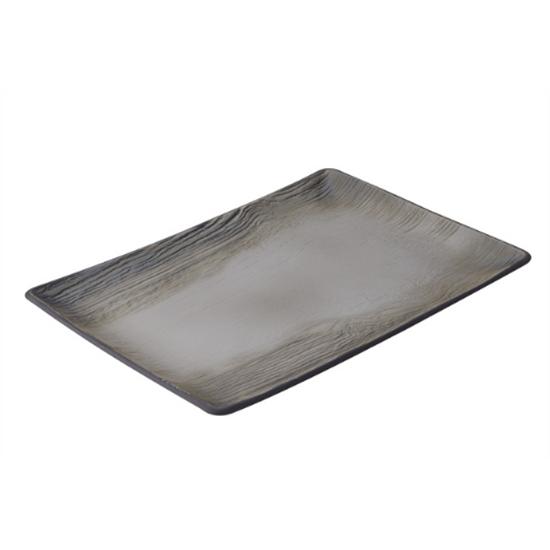 """Pepper Arborescence Rectangular Plate 12.5"""" (32cm)"""
