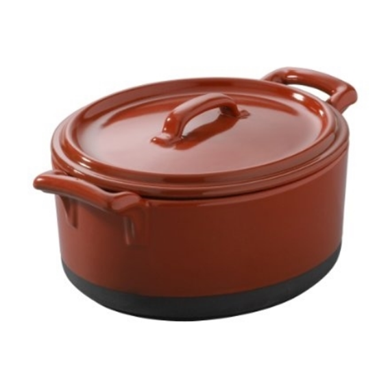 Revol Eclipse Red Cocotte With Lid 13.5cm (15.5oz)