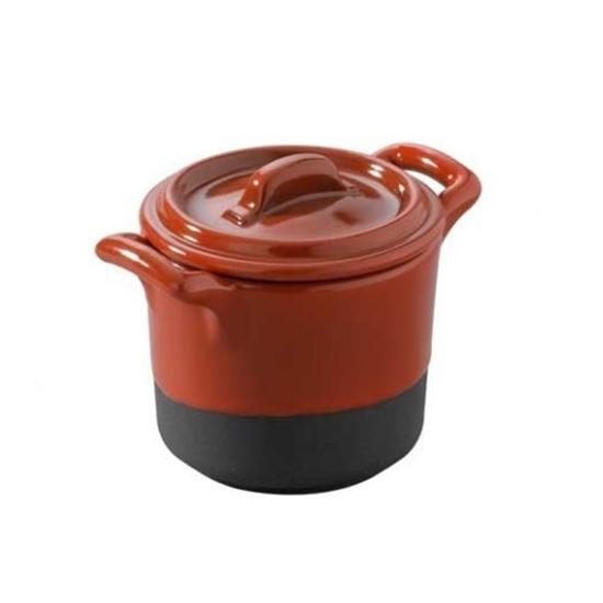 Revol Eclipse Red Mini Stew Pot With Lid 6cm (1.5oz)