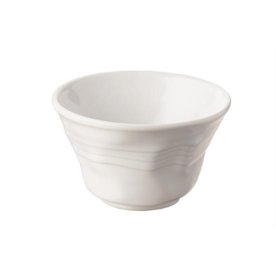 Small White Deep Crumpled Bowl 11.5x7cm