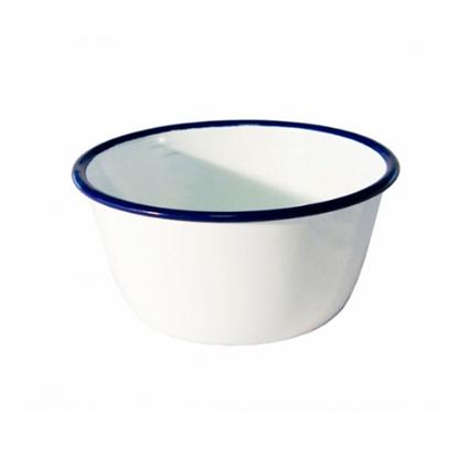 """White Enamel Bowl 4.75"""" (12cm)"""