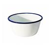 White Enamel Pudding Bowl 16cm