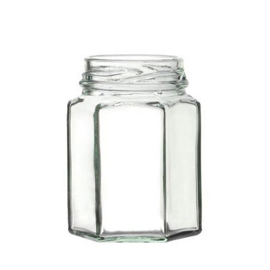 Hexagonal Glass Jar 12oz (288ml)
