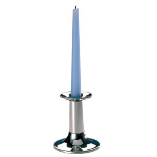 """Chrome Plated Candle Stick Holder 8.5"""" (22cm)"""