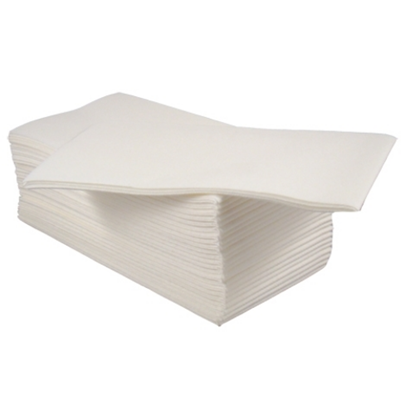 White Airlaid Napkin 8 Fold