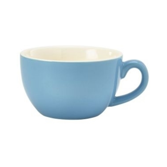 Royal Genware Blue Bowl Shaped Cup 8.75oz